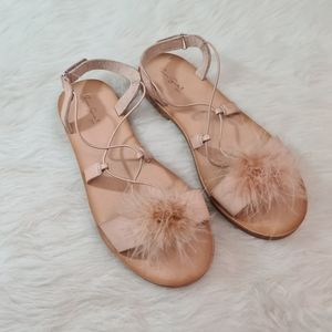 NEW Zara Girl Feather Pink Sandals size 37